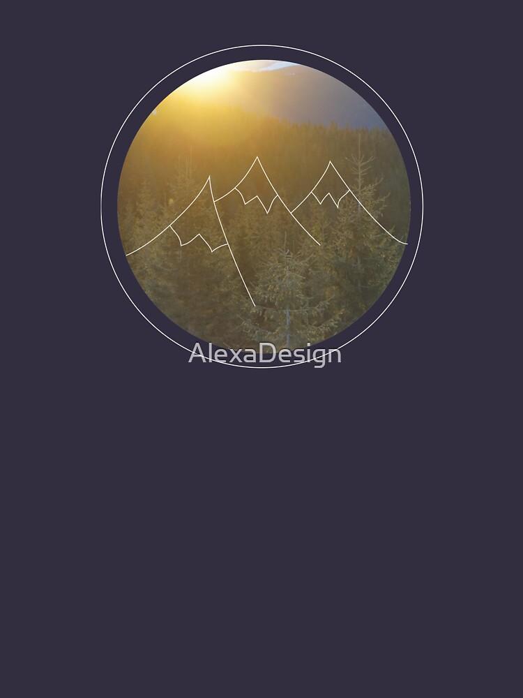 Mountain sunrise in Winter by AlexaDesign