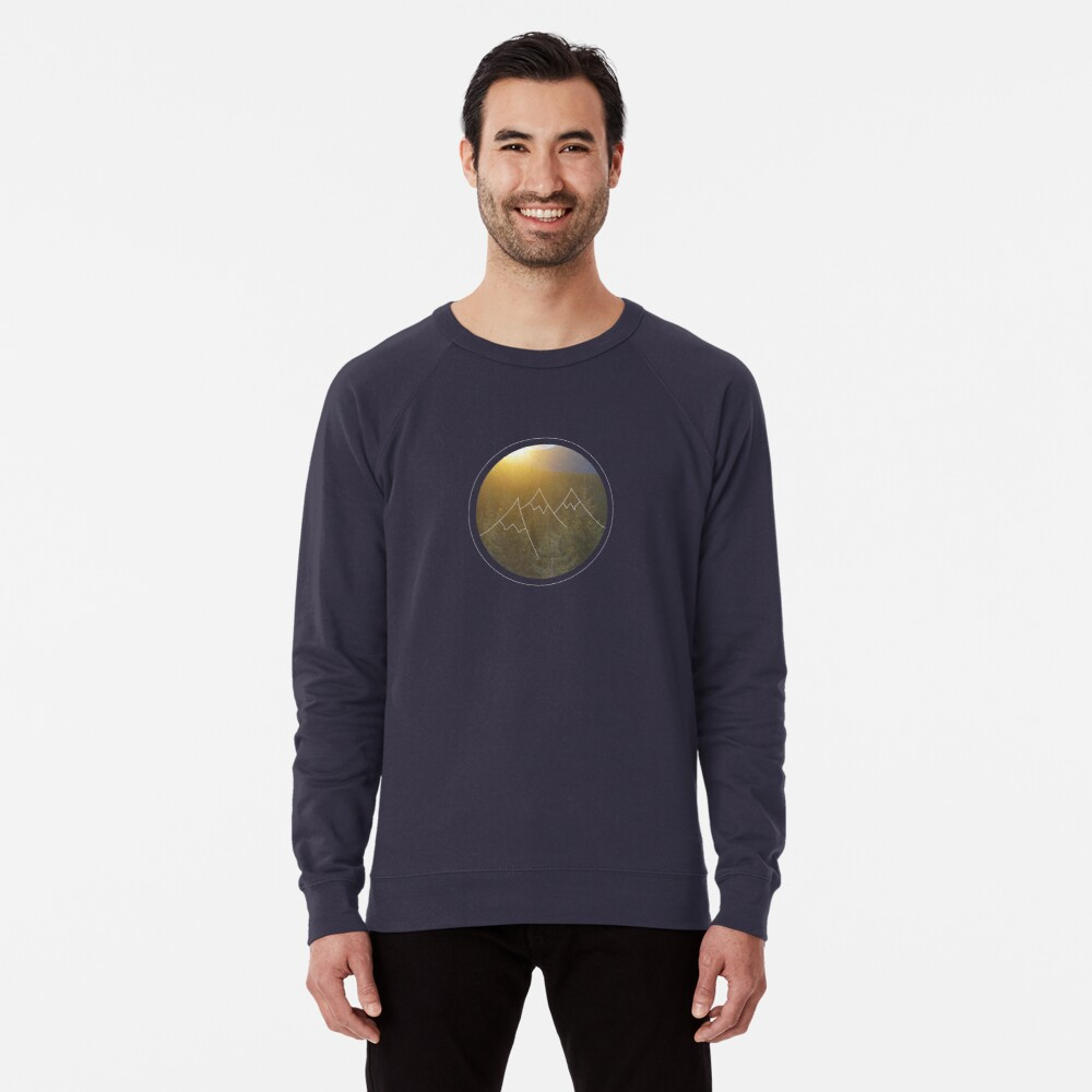 Mountain sunrise in Winter Lightweight Sweatshirt