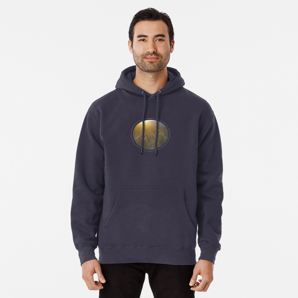 Mountain sunrise in Winter Pullover Hoodie