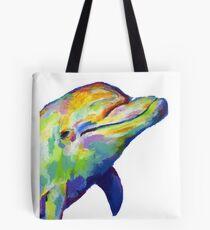Dolphin Art - Porpoise Art - Bottlenose Dolphin Shirt - Porpoise Shirt - Marine Biologist Gift Tote Bag