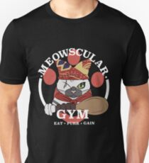 Meowscular Gym Slim Fit T-Shirt