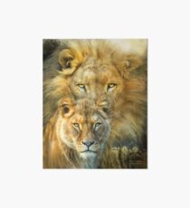 Lion And Lioness - African Royalty Art Board