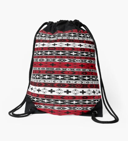 Western American Indian Blanket Drawstring Bag