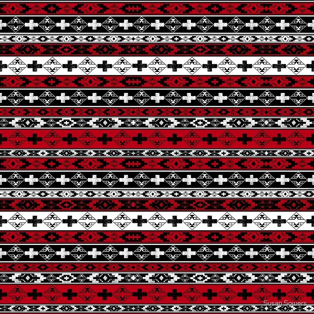Western American Indian Blanket by Susan Sowers