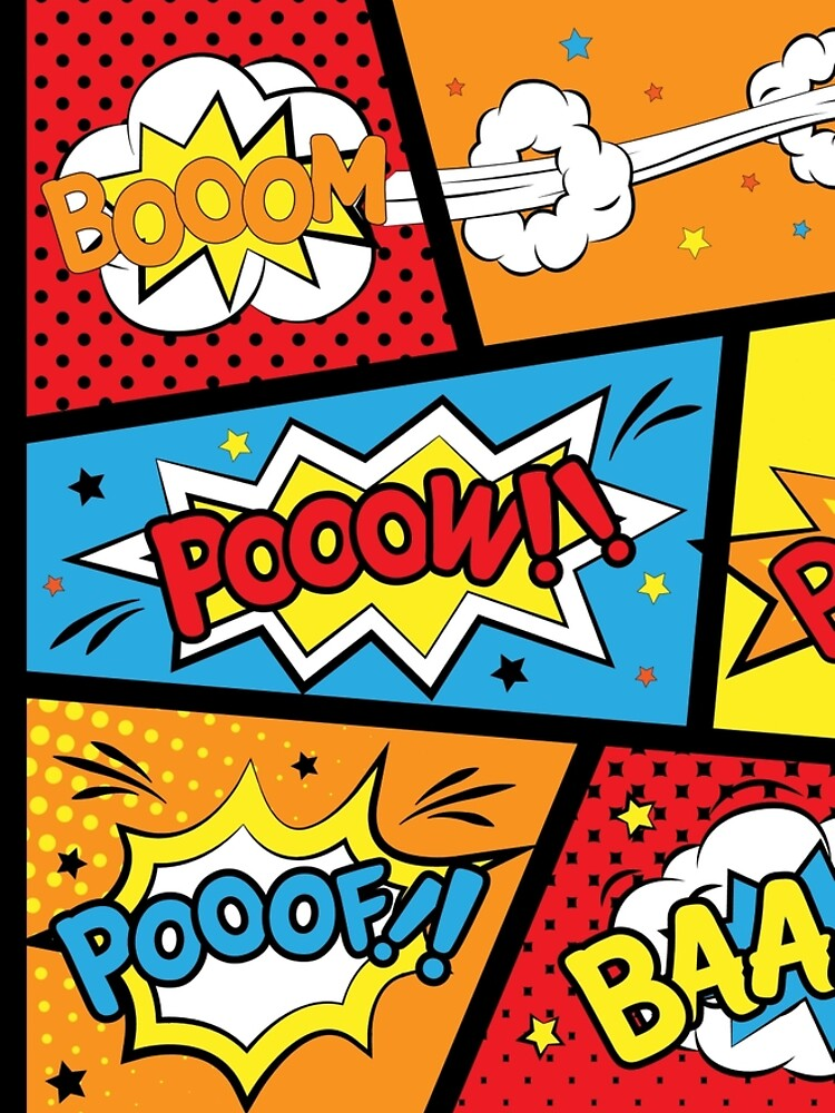 Comic Pop Art Explosions Bomb by Kanae19