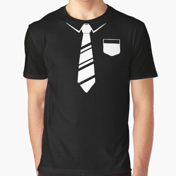 Tie Black Round Neck T-shirt  Graphic T-Shirt