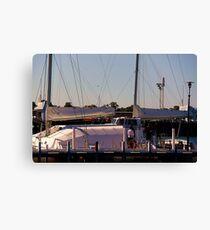 Docked Yacht - Geelong Victoria Australia Canvas Print