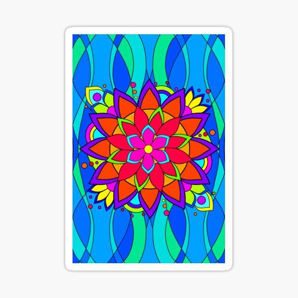 Modern Hippie Flower Sticker