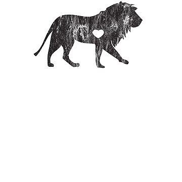Lion Lion Lover Big Cat Safari African Plains I Love Lions by zot717