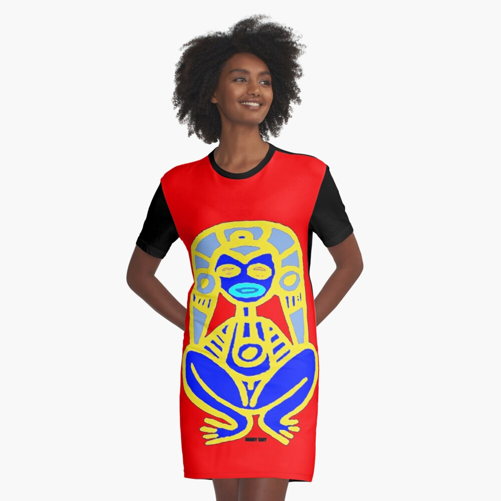PUERTO RICAN NATIVE ART Graphic T-Shirt Dress Front