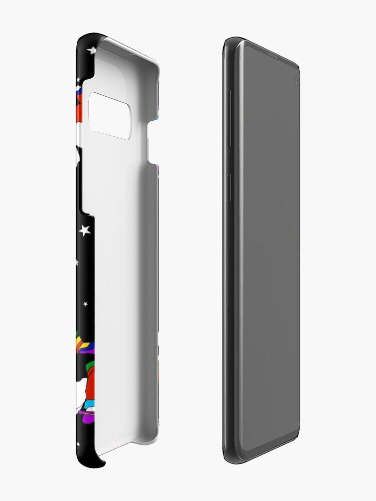 Alternate view of Angel Dudes Starry Night - black Case & Skin for Samsung Galaxy