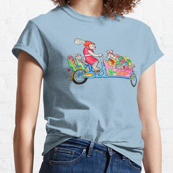 Bunny Family on a Cargo Bike Classic T-Shirt
