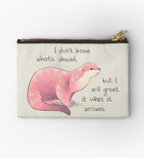 """I Don't Know What's Ahead"" Otter Studio Pouch"