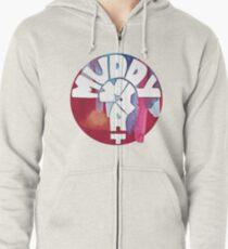 MUDDY WHAT? Logo Aquarell Hoodie mit Reißverschluss