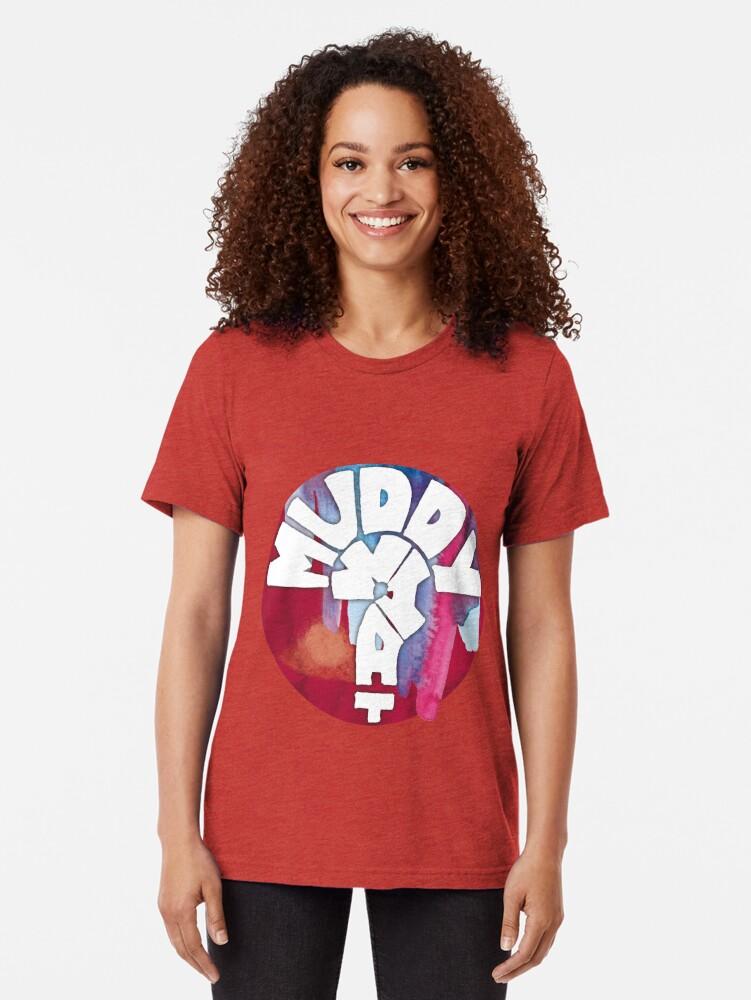 Alternative Ansicht von MUDDY WHAT? Logo Aquarell Vintage T-Shirt