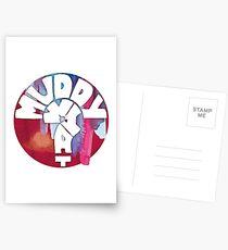 MUDDY WHAT? Logo Aquarell Postkarten