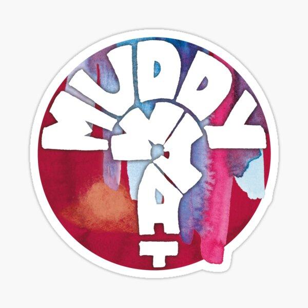 MUDDY WHAT? Logo Aquarell Sticker