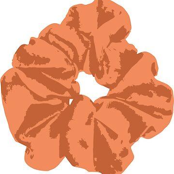 orange scrunchie by FancyDancyNancy