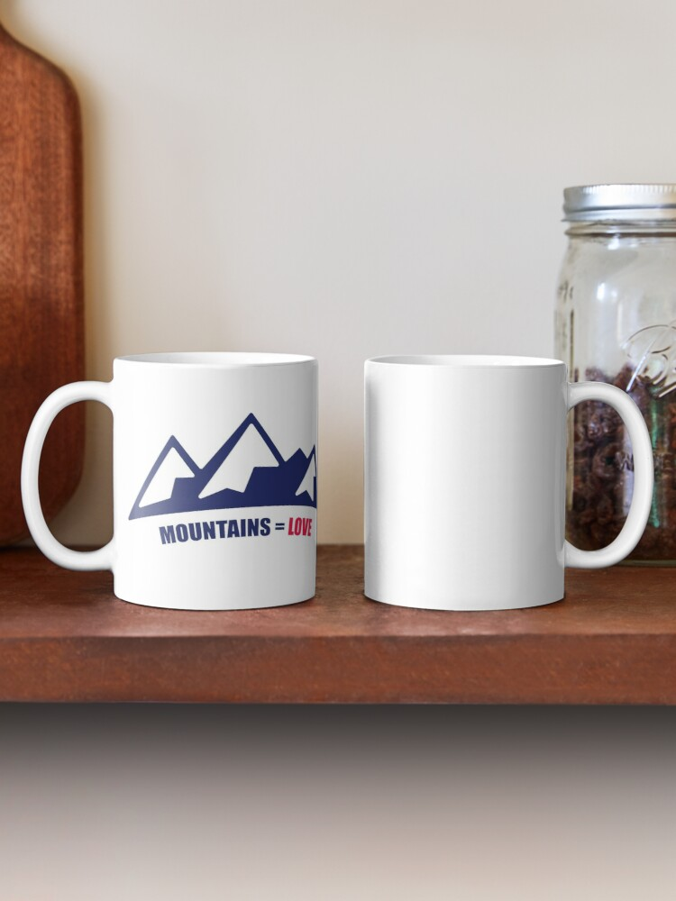 Alternate view of Mountains = Love Mug