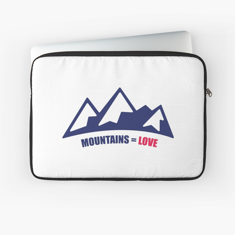 Mountains = Love Laptop Sleeve
