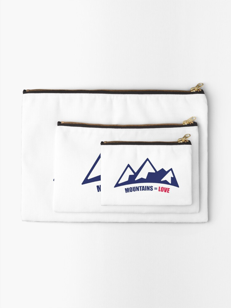 Alternate view of Mountains = Love Zipper Pouch