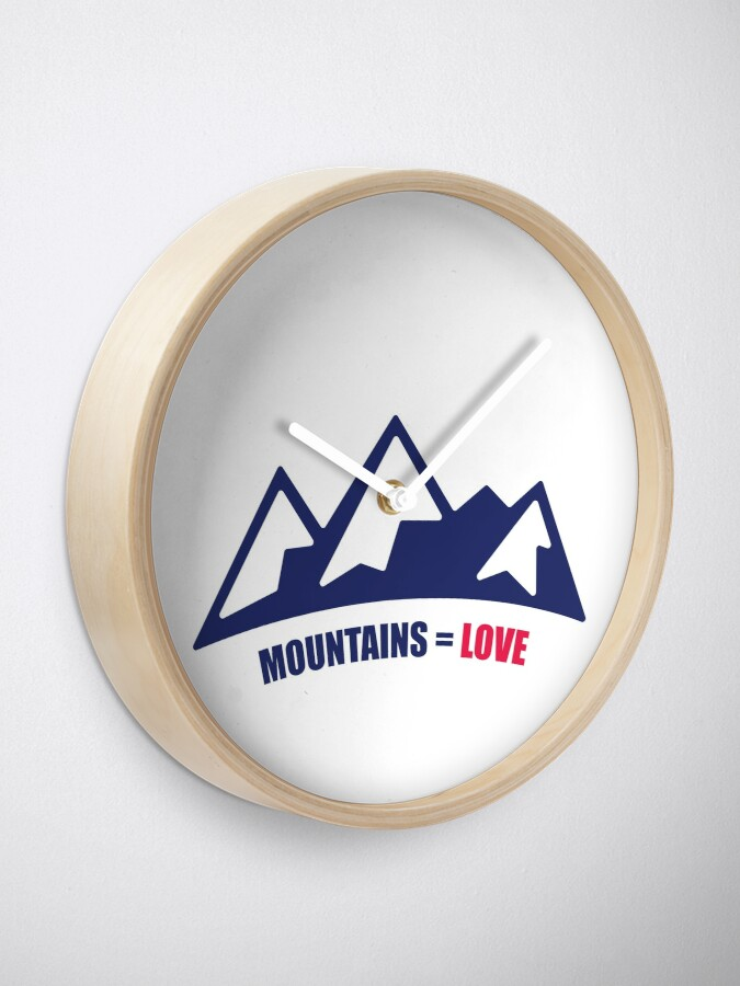 Alternate view of Mountains = Love Clock