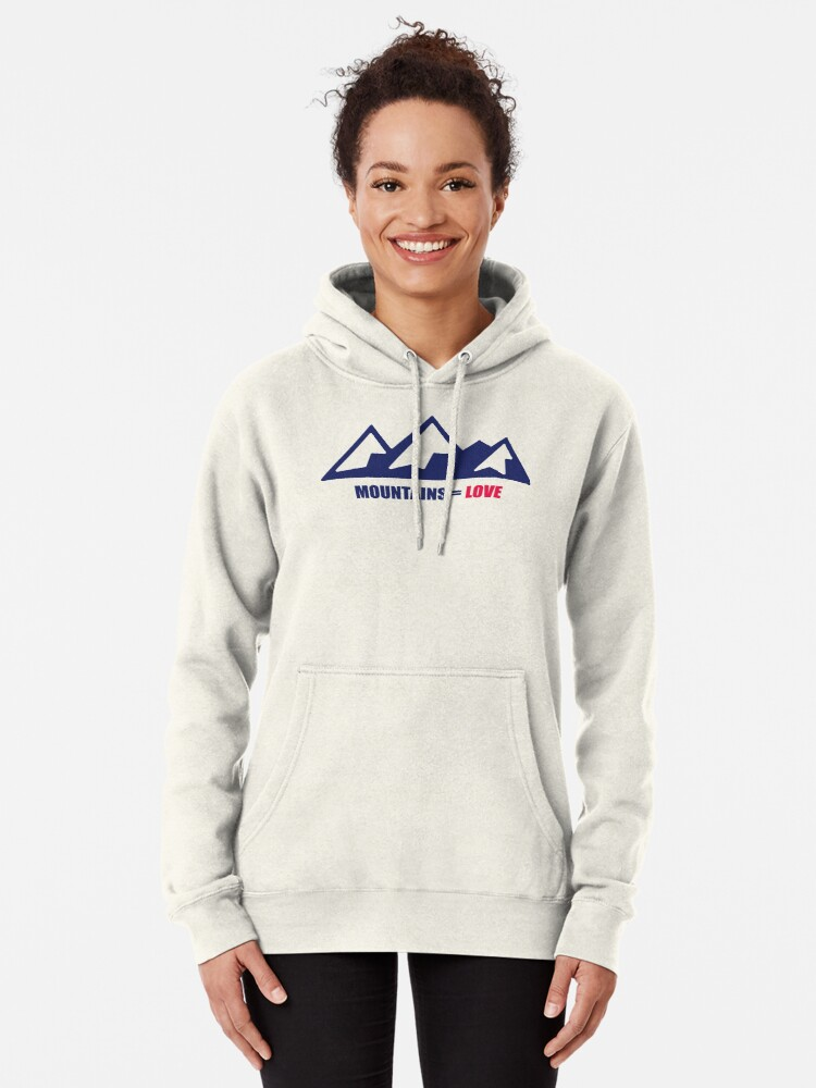 Alternate view of Mountains = Love Pullover Hoodie