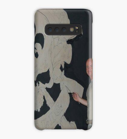 Josh King painting T-wall in Balad Iraq Case/Skin for Samsung Galaxy