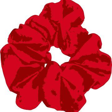 Red Scrunchie by FancyDancyNancy