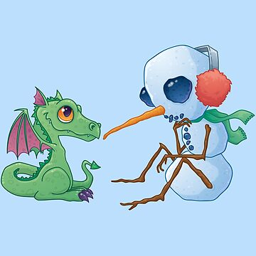 Snowman and Dragon Shirt by fizzgig