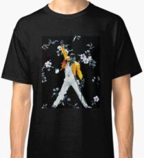 Fredddie Mercury Yellow Jacke in Blumen Classic T-Shirt