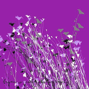 Tahoe Wildflowers on Purple by BryanSoCal