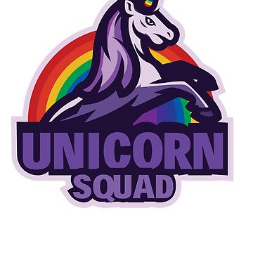 Cute Cool Fun Unicorn Squad Design by loumed