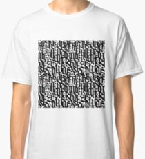 typography pattern 4  - seamless design - abstract calligraphy      Classic T-Shirt