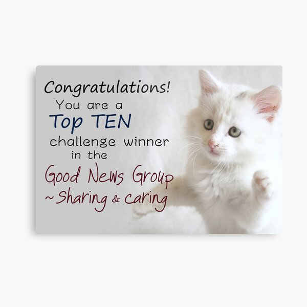 Top Ten Banner for the Good News Group ~Sharing and Caring Metal Print