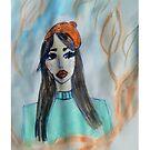 Red Lips Fashion Illustration by IvanaKada