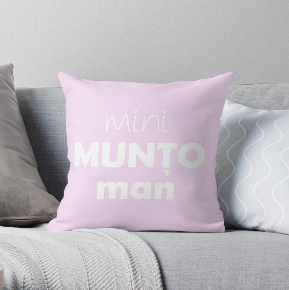 Mini Muntoman Throw Pillow