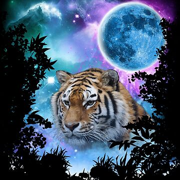 Tiger MidNight Forest by ratherkool