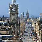 Looking down Princes Street, Edinburgh by Richard Flint
