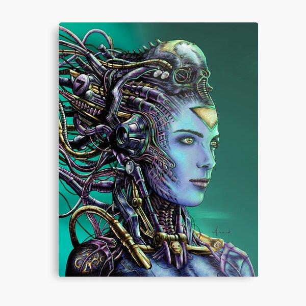 Cyberpunk Woman Metal Print