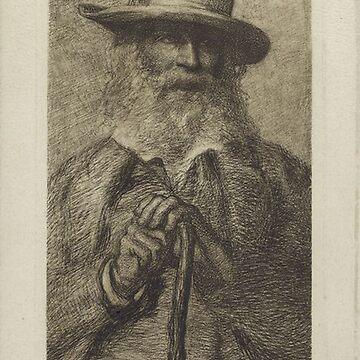 Walt Whitman portrait by Geekimpact
