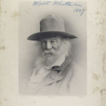 Walt Whitman vintage portrait by Geekimpact