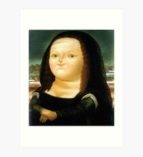 Fat Mona Lisa Art Print
