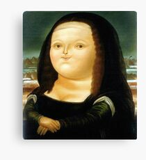 Fat Mona Lisa Leinwanddruck