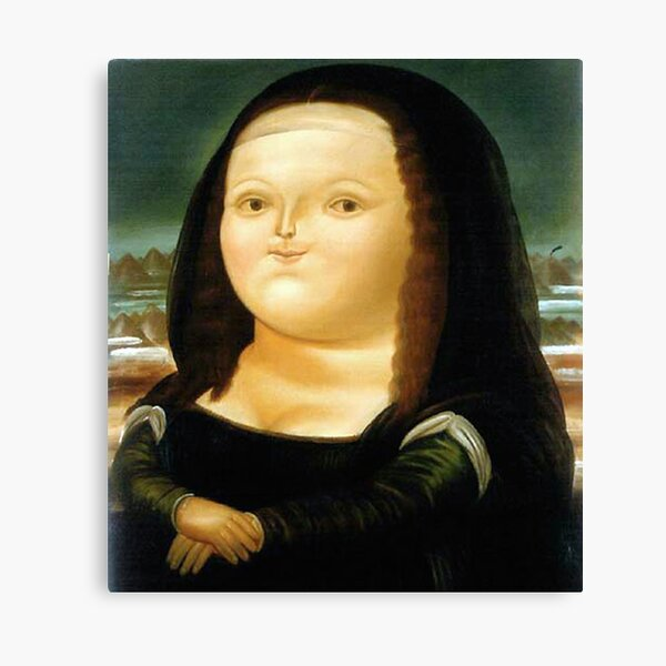 Fat Mona Lisa Canvas Print