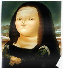 Fat Mona Lisa Poster