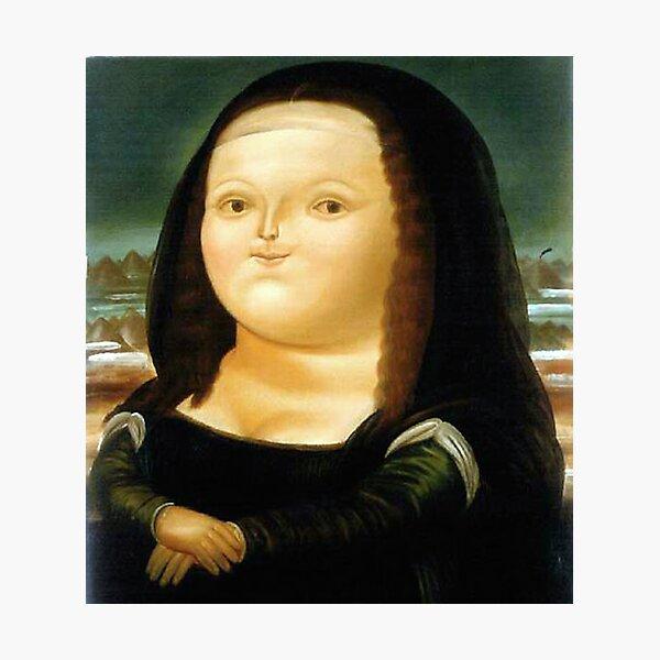 Fat Mona Lisa Photographic Print