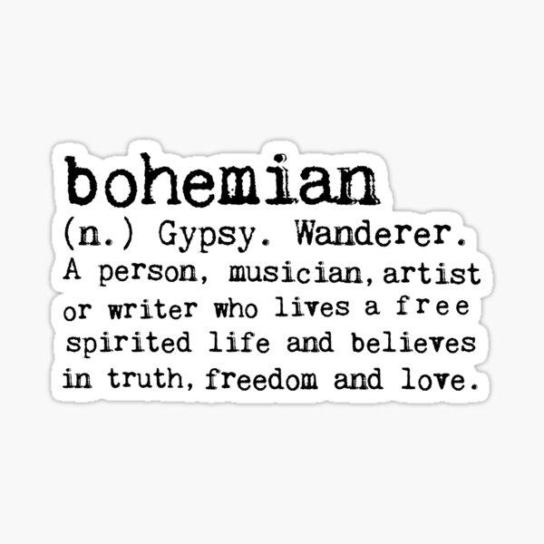 Bohemian Sticker