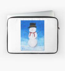 Snowman Painting Laptop Sleeve