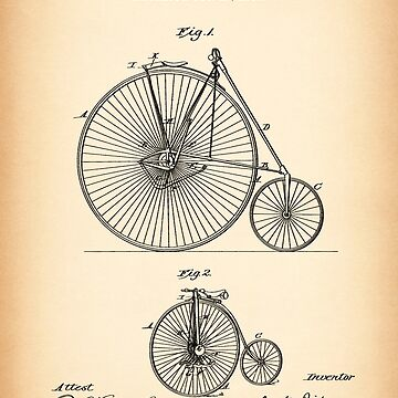 VELOCIPEDE vintage patent by muharko